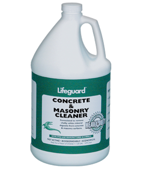 Lifeguard waterproofing products inc for Concrete cleaner oil remover